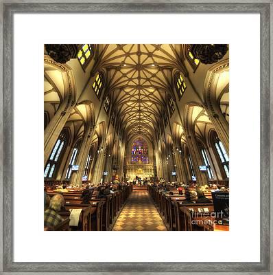 Trinity Church Nyc Framed Print by Yhun Suarez