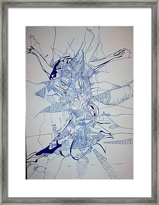 Triple Jump Framed Print by Gloria Ssali