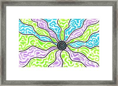 Tripped Out Sun Framed Print by Jera Sky