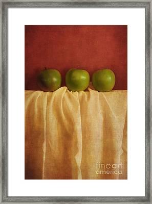 Trois Pommes Framed Print by Priska Wettstein