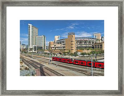 Trolley To Petco Park Framed Print by Alan Crosthwaite