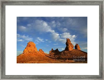 Trona Pinnacles Golden Hour Framed Print by Bob Christopher