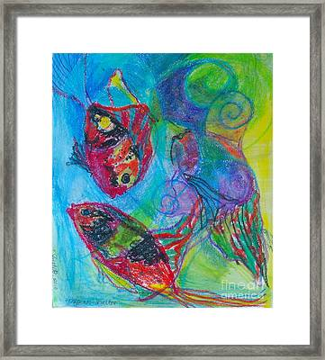 Tropical Ballet II Framed Print by Claudia Smaletz