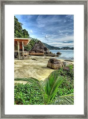 Tropical Beach Framed Print by Adrian Evans