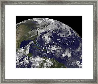 Tropical Cyclones Katia, Lee, Maria Framed Print by Stocktrek Images