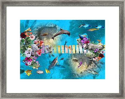 Tropical Framed Print by Emily Campbell