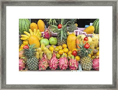 Tropical Fruit Display  Framed Print by Roberto Morgenthaler