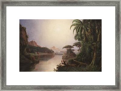 Tropical Landscape Framed Print by Norton Bush