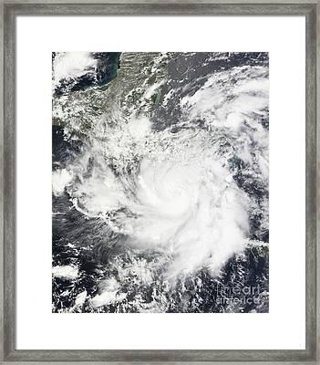 Tropical Storm Alma Framed Print by Stocktrek Images