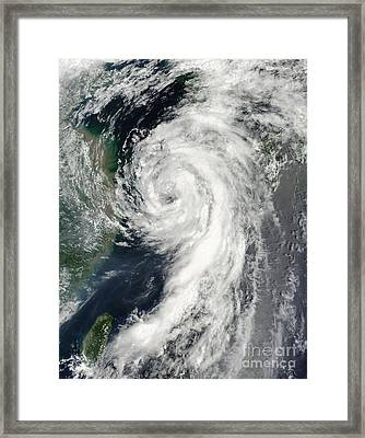 Tropical Storm Dianmu Framed Print by Stocktrek Images