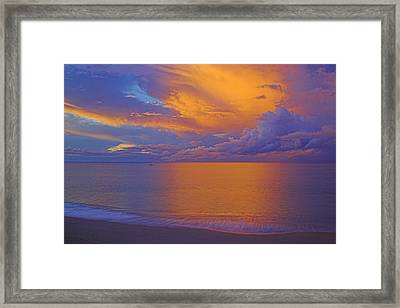 Tropical Sunset-2- St Lucia Framed Print by Chester Williams