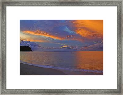 Tropical Sunset- St Lucia Framed Print by Chester Williams