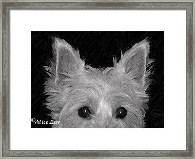 Trouble Framed Print by Alice Lero