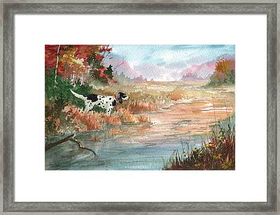 Trout Point Framed Print by Sean Seal