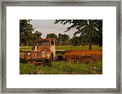 Truck And Tank 31 Framed Print by Douglas Barnett