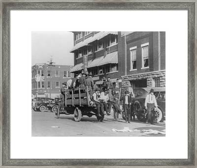 Truck On Street Near Tulsa, Oklahomas Framed Print by Everett