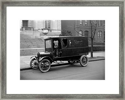 Trucks. Dermonets Ford Delivery Truck Framed Print by Everett