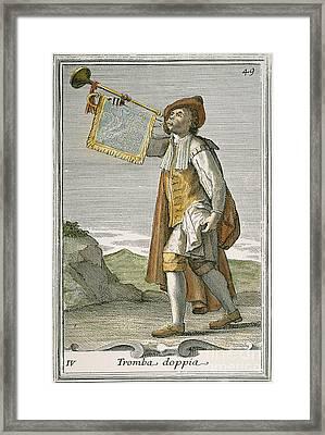 Trumpet, 1723 Framed Print by Granger
