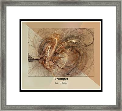 Trumpet Framed Print by Betsy C Knapp