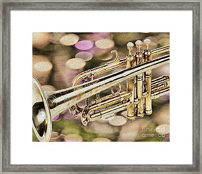 Trumpet Framed Print by Cheryl Young