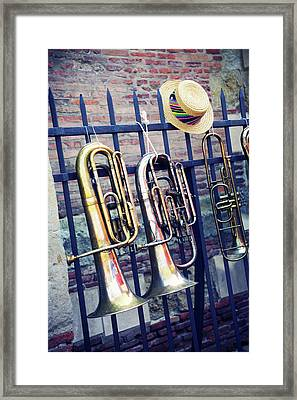 Trumpet Framed Print by Christian Rivière