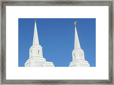 Trumpeting The Arrival Of The Lord Framed Print by Gary Baird