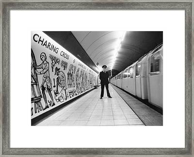 Tube Train Murals Framed Print by Evening Standard