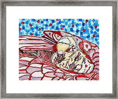 Tucked In Mom No.3 Framed Print by Connie Valasco