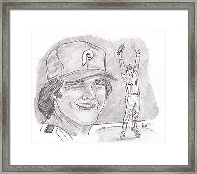 Tug Mcgraw Framed Print by Chris  DelVecchio