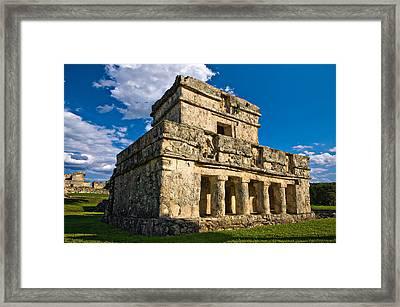 Tulum Temple Framed Print by Meirion Matthias