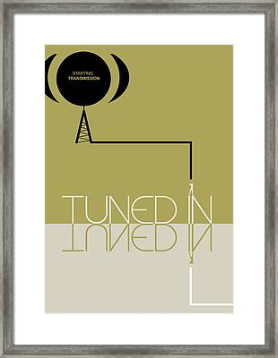 Tuned In Poster Framed Print by Naxart Studio