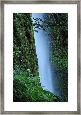 Tunnel Falls Framed Print by R Lynley