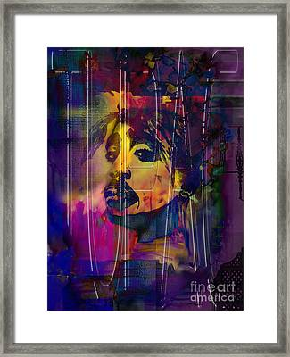 Tupac Framed Print by Christine Mayfield