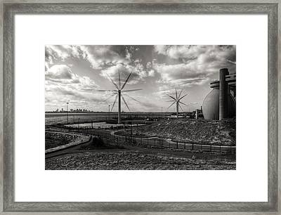 Turbines In Motion Framed Print by Andrew Kubica
