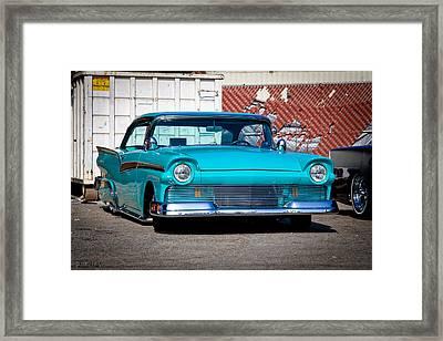 Turquoise Tribe Framed Print by Michael Kerckaert