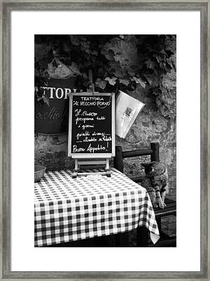 Tuscan Cafe Diner Framed Print by Andrew Soundarajan
