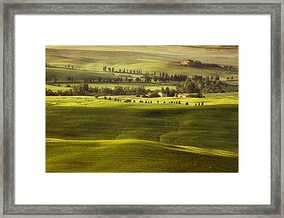Tuscan Fields Framed Print by Andrew Soundarajan