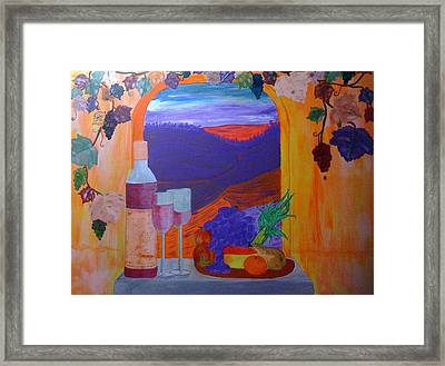 Tuscan Lunch Framed Print by Judi Goodwin