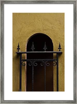 Tuscan Rod Iron Framed Print by Wittaya Uengsuwanpanich
