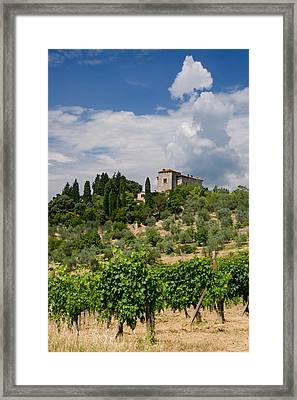Tuscany Villa In Tuscany Italy Framed Print by Ulrich Schade