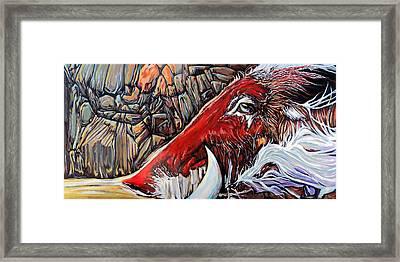 Tusk Framed Print by Rus Huffstutler