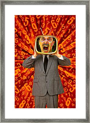 Tv Man Framed Print by Garry Gay