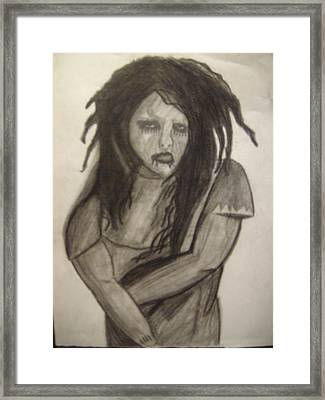 Twiggy Framed Print by Brittney Wallace