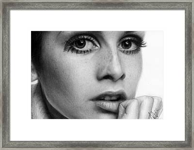 Twiggy Framed Print by Nat Morley