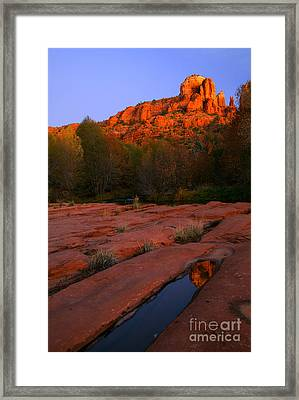 Twilight Cathedral Framed Print by Mike  Dawson