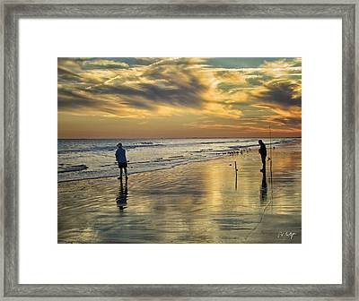 Twilight Fishing Framed Print by Phill Doherty
