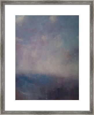 Twilight Mist Over The Arreton Valley Framed Print by Alan Daysh