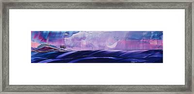 Twilight Moon Rise Framed Print by Danita Cole