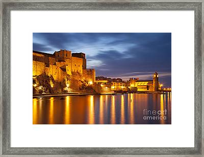 Twilight Over Collioure Framed Print by Brian Jannsen