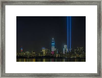 Twin Lights Framed Print by Susan Candelario
